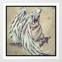 angel wings Art Prints featuring Angel Wings by Buttercream Art