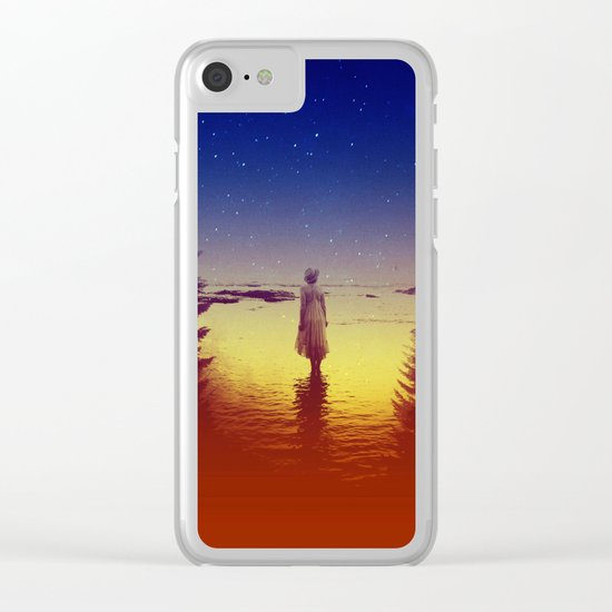 Wander Night Noise Clear iPhone Case