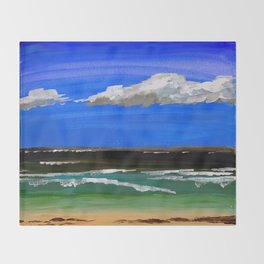 Pacific ocean Throw Blanket