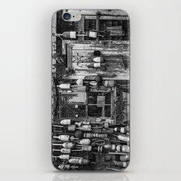 B&W Fishing Shack iPhone Skin