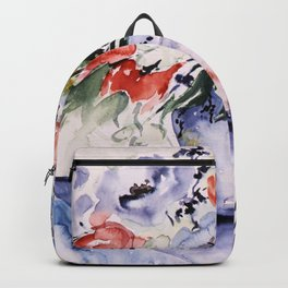 spring flower buquet in aquarell Backpack
