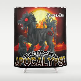 Demons of the Apocalypse - Famine Shower Curtain