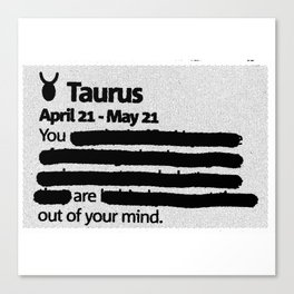 Taurus 1 Canvas Print