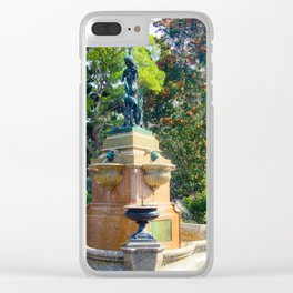 Hyde Park Fountain Clear iPhone Case