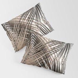 Golden Brown Palm Leaves Dream - Cali Summer Vibes #1 #tropical #decor #art #society6 Pillow Sham