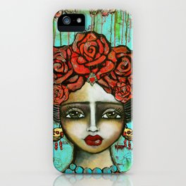 FRIDA PAINTING BAD ASS iPhone Case