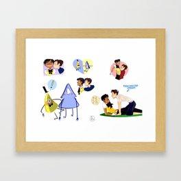 flirty dipper Framed Art Print