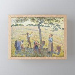 Apple Harvest - Impressionist Painting Framed Mini Art Print