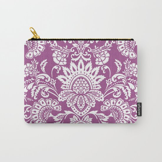 Damask in cyclamen Carry-All Pouch