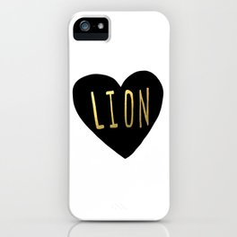 Lion Heart iPhone Case