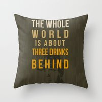 actor Throw Pillows featuring movie actor quote by Larsson Stevensem