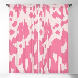 Modern Abstract Ikat pink #homedecor Blackout Curtain