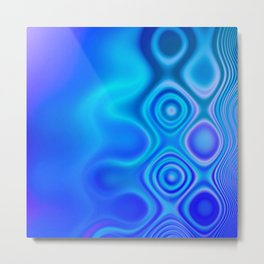 Dots in Motion (watery blues) Metal Print