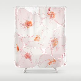 The light soft and warm Shower Curtain