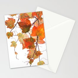 orange grapevine 2 Stationery Cards