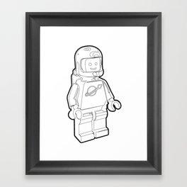 Vintage Spaceman Wireframe Minifig Framed Art Print