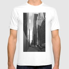 Reflection of the street White Mens Fitted Tee MEDIUM