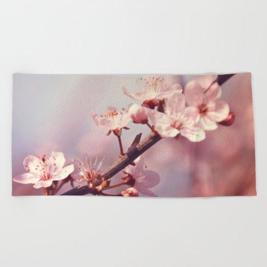 Joyful Pixie Cherry Blossom Beach Towel