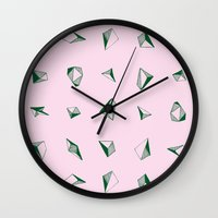 diamonds Wall Clocks featuring DIAMONDS by ZARYA