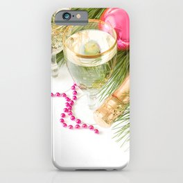 Holiday Christmas Christmas Ornaments Champagne Gl iPhone Case