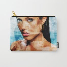 faces of Angelina Jolie2 Carry-All Pouch