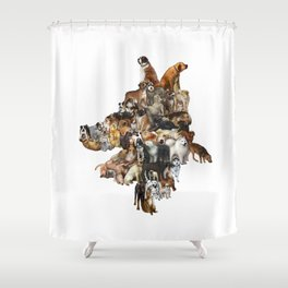 Legion of Canines Shower Curtain