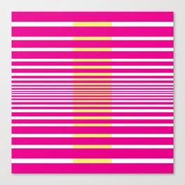 Illusions Abstract Pink & Yellow Canvas Print