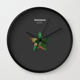 Gemstone - Kryptonite Wall Clock