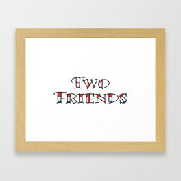 Two Friends Framed Art Print