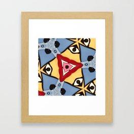 Salt down Framed Art Print