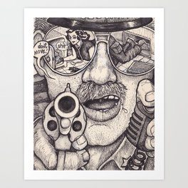 Caught Art Print