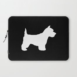 West Highland Terrier dog breed minimal dog lover gifts black and white Laptop Sleeve