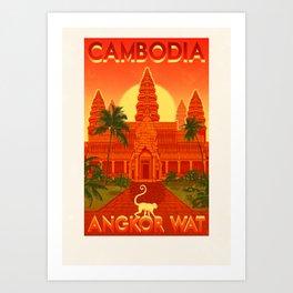 Cambodia - Angkor Wat Art Print