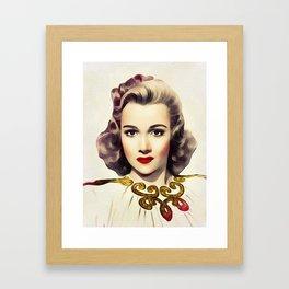 Carole Landis, Vintage Actress Framed Art Print