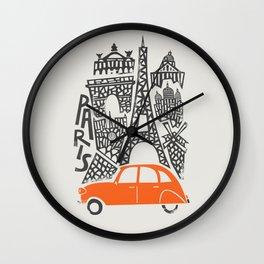 Paris Cityscape Wall Clock