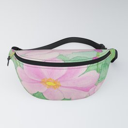 Watercolor Japanese Anemones Fanny Pack