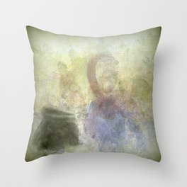Two Women and their Cooking Pot Throw Pillow