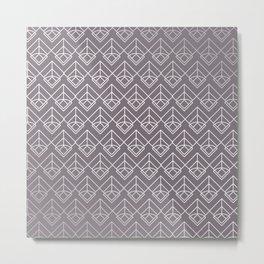 Modern Geometric Diamond Arrow Pattern in Aubergine Metal Print