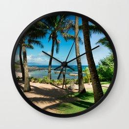 Kuau Beach Paia Maui North Shore Hawaii Wall Clock
