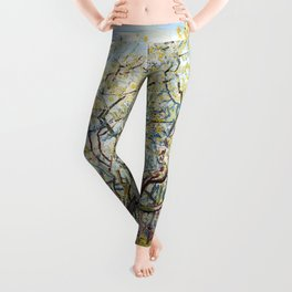 The White Orchard by Vincent van Gogh Leggings