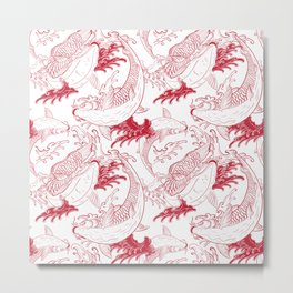 Red carps Metal Print