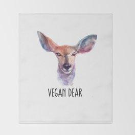 Vegan Dear Throw Blanket