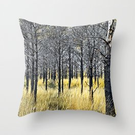 Walking with trees Throw Pillow