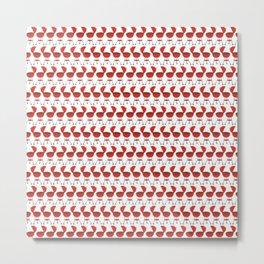 Grill - BBQ Doodle Pattern Metal Print