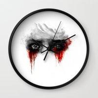 ashton irwin Wall Clocks featuring Quiet by ururuty