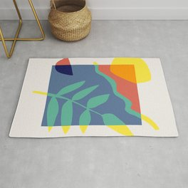 Framed color abstract Rug