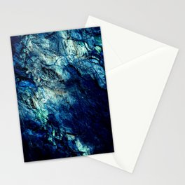 Mineral Texture Dark Teal Ocean Blue Stationery Cards