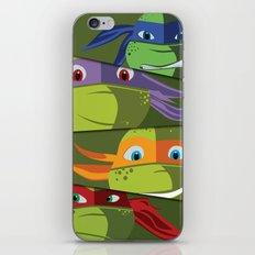 Teenage Mutant Ninja Turtles Vector Art iPhone & iPod Skin
