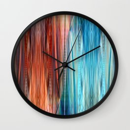 Pattern orange and blue Wall Clock