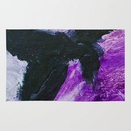 Flight: Acrylic in purple and black. Rug